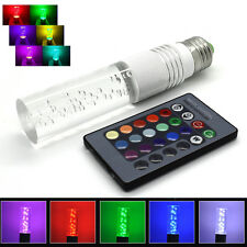 E27 3W RGB 16 Colorful Changing LED Crystal Light Bulb Lamp w/ IR Remote Control