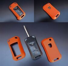 PORSCHE Orange Remote Flip Key Cover Case Skin Shell Cap Fob Protection Hull 997