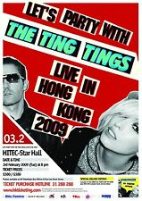 "THE TING TINGS ""LET'S PARTY WITH"" LIVE IN HONG KONG 2009 CONCERT TOUR POSTER"