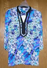 Women's XXL Tunic top - floral print