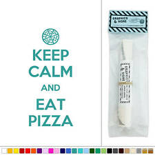 Keep Calm and Eat Pizza Vinyl Sticker Decal Wall Art Décor
