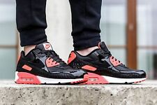 "Nike Air Max 90 25 th Anniversary ""Infrared Croc"" Mens Shoe size 9.5 725235-006"
