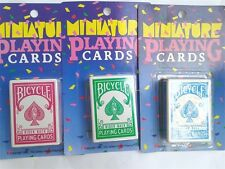 Vintage 1990 Bicycle Rider Back Playing Cards - 3 Decks  Mini Miniature 404
