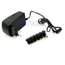 EU Plug Universal AC/DC Adaptor Power 3V 4.5V 5V 6V 7.5V 12V DC Charger Hot!!