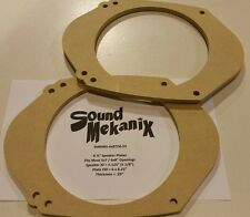 "MDF Speaker / Spacer Rings, 5x7"" / 6x8"" to 6.5"" SMALL 1/4"" Adapters One Pair"