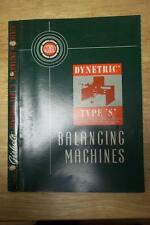 Vtg Gisholt Machine Co Catalog~Dynetric Type S Balancing Machines ~ Brochure