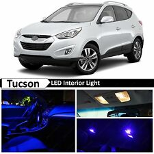 9x Blue Interior LED Light Package Kit for 2010-2015 Tucson