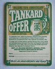 WILSONS TRADITIONAL MANCHESTER BREWERS 150 YEARS 1834 1984 TANKARD OFFER COASTER