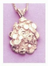 Solid Sterling Silver Nugget Pendant Setting
