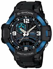 Casio G-Shock GA1000-2B Mens GRAVITYMASTER Aviator Black and Blue Watch