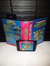 TMNT Teenage Mutant Ninja Turtles Big Apple 3am Game for Sega Genesis Cart & Box