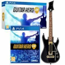 NEW Sony PS4 Guitar Hero Live Wireless GUITAR CONTROLLER Single Bundle WITH GAME