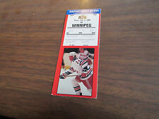 2/9/1989 RANGERS -WINNIPEG JETS TICKET STUB
