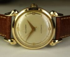 Waltham Solid 14K Gold 1146 17j Automatic Vintage Dress Watch WXO 1361N