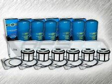 7.3L TURBO DIESEL 6 OIL FILTERS & 6 FUEL FILTERS FOR 99-03 FORD F SERIES