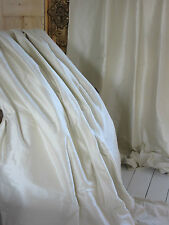 Opulent CREAM / IVORY SILK thermal blackout curtains Can be interlined. Long