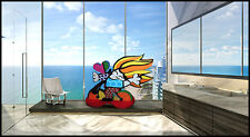 ROMERO BRITTO Original Oil Wood Sculpture Painting Signed Pop Artwork Child HUGE