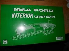 1964 FORD GALAXIE 500 XL CUSTOM 500 COUNTRY SQUIRE INTERIOR ASSEMBLY MANUAL