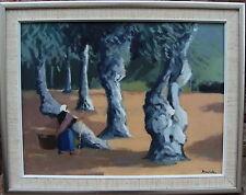 """Stig wernheden 1921-1997, """"oliveraie II"""", pour 1960/70"""