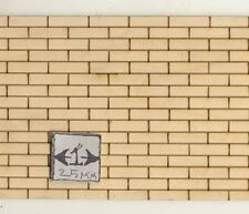 "Brick Sheet 103 - basswood  dollhouse miniature 1:12 scale USA made 4""x24"" 1pc"