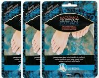 3x Macadamia Oil Extract Foot Pack Deep Moisturising Repair Soften Cracked Heels