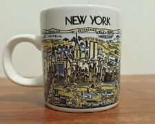 Vintage A View of the World City Mug New York Twin Towers, Empire State, Liberty
