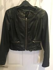French Connection Faux Leather Jacket Uk 10