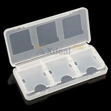 Clear 6 in 1 Game Card Storage Case Box for 3DS, DS, DS Lite, DSi, XL, LL, NDS v