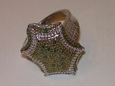 """Chuck Clemency """"Diamond Treasures"""" .925 Sterling Silver Ring Size 10"""