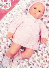 "ANGEL TOP, BONNET & BOOTEES for 22"" doll   Reborn - 4ply - doll knitting pattern"