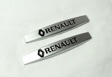 2Pcs For Renault Metal Luxury Car Body Side Fender Silvery Sticker Badge Emblems