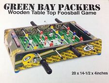 Green Bay Packers Foosball Game Set Tabletop Soccer NFL Football Fan Cave Decor