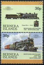 1930 Newfoundland Railway Class R2-a 2-8-2 Train Stamps (Bernera)