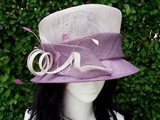 HAT BOX Ladies Smart Stylish Purple/Mauve & Lilac Formal Hat Weddings Races