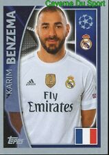44 KARIM BENZEMA FRANCE REAL MADRID CF STICKER CHAMPIONS LEAGUE 2016 TOPPS