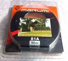 Marumi 52mm 81A 81-A Glass Lens Filter Warm Warming 52 mm Japan  OEM Soft Focus