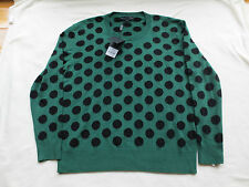 $995 NWT BURBERRY PRORSUM Mens Wool Polka Dot Green Sweater Sz. S Small