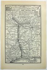 Original 1898 Railroad Map of the Port Arthur Route