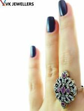 STERLING 925 SILVER SIZE 9 RING TURKISH OTTOMAN HANDMADE VICTORIAN JEWELRY C61