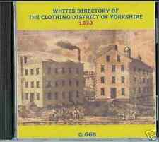 DIRECTORY OF THE CLOTHING DISTRICT OF YORKSHIRE 1830 CD