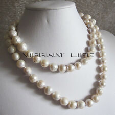 "36"" 9-11mm White A+ Kasumi Freshwater Pearl Necklace Strand U"