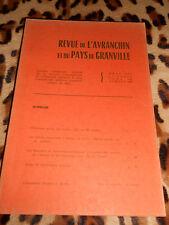 REVUE DE L'AVRANCHIN ET DU PAYS DE GRANVILLE - TOME 56, ANNEE 1979, Fasc. 298