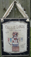 Cute Kitty Cats Laundry Bath Sign Plaques Primitive Lodge Cabin Set of 4