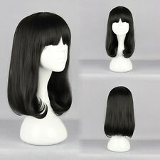 Women Pelucas Cosplay Lolita Fashion Black Straight Anime Party Synthetic Wig