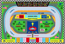 "3x5 Sport Car Rug Speedway Track Race Nascar Lane Road Map USA Ralley 3'3""x4'10"""