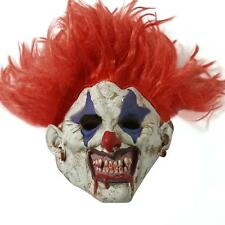 Latex Hair Clown Red Nose Halloween Mask Scary Horror Fancy Dress Costumes