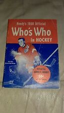 HENDY'S 1950 OFFICIAL WHOS WHO IN HOCKEY REDWINGS SID ABEL ON COVER