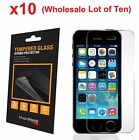 10x Wholesale Lot Tempered Glass  Screen Protector for iPhone 5 5c 5S Retail Box