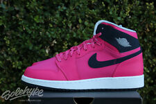 NIKE AIR JORDAN 1 RETRO HIGH GS I SZ 9 Y VIVID PINK DARK OBSIDIAN 332148 609