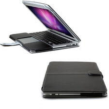 13 MacBook Air Case - Folio Case Cover - Black PU Leather Cover